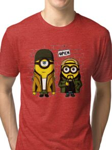Silent Minion Stuart And Bob Tri-blend T-Shirt