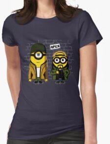 Silent Minion Stuart And Bob Womens Fitted T-Shirt