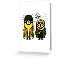 Silent Minion Stuart And Bob Greeting Card