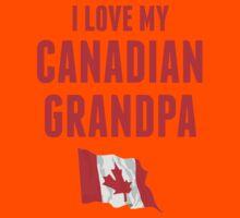 I Love My Canadian Grandpa Kids Tee