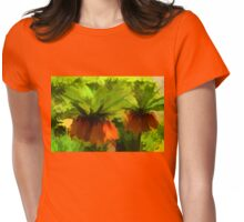 Showy Orange Crown Imperial Flowers - Impressions Of Spring Womens Fitted T-Shirt