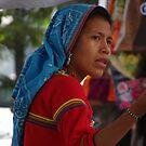 Huichol Lady - Señorita Huichol by Bernhard Matejka
