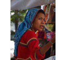 Huichol Lady - Señorita Huichol Photographic Print