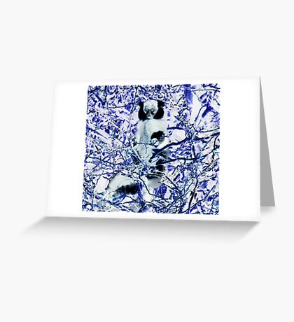 The Face of Thunder Greeting Card