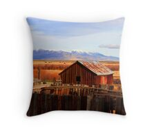 old barn n corral Winnemucca nevada area.. Throw Pillow