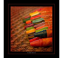 Texture and Crayons Photographic Print