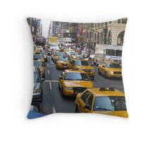 Taxi Rumble Throw Pillow