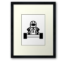 Kart racing Framed Print