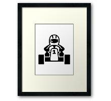 Kart racer Framed Print