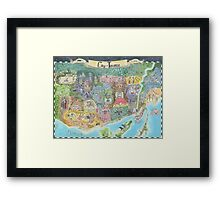 Fantasy Map of Toronto, Might and Magic Style Framed Print