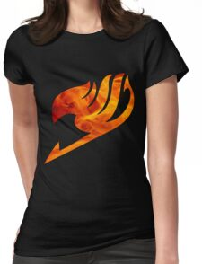 Fire Fairy Tail Logo Womens Fitted T-Shirt