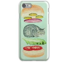 Catsup - Cat Burger Delight! iPhone Case/Skin