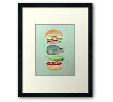 Catsup - Cat Burger Delight! Framed Print