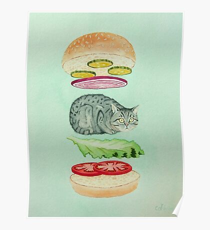 Catsup - Cat Burger Delight! Poster