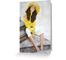 The Girl Next Door - Acrylic on Canvas Greeting Card