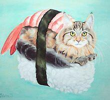 Cat Sushi - Large by catshrine