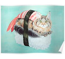 Cat Sushi - Large Poster