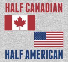 Half Canadian Half American Kids Tee