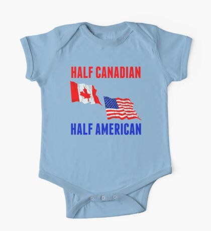 Half Canadian Half American One Piece - Short Sleeve