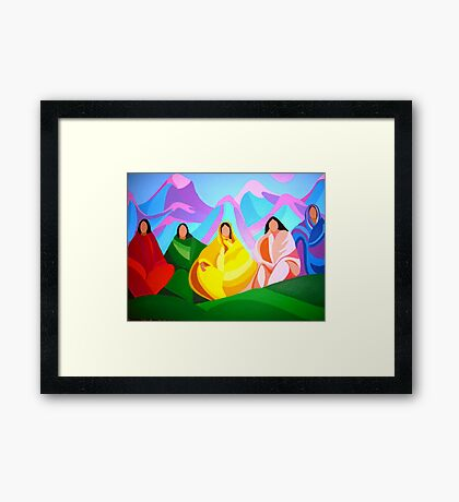 Ladies of the Community Framed Print