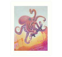 The Octopus Skater Art Print