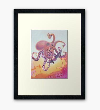 The Octopus Skater Framed Print