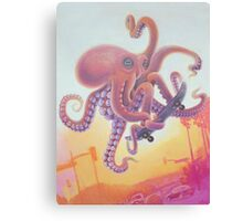 The Octopus Skater Canvas Print