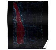 USGS Topo Map Washington State WA Vantage 244460 1965 24000 Inverted Poster
