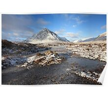 Buachaille Etive Mor in winter. Poster