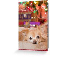 Thinking of you at Christmas Greeting Card