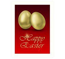 Golden Easter Eggs Art Print