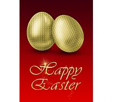 Golden Easter Eggs Photographic Print