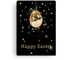 Disco Ball Easter Egg Canvas Print