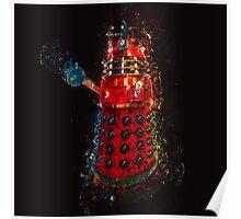 Dalek Fractal Flame, digital painting Poster