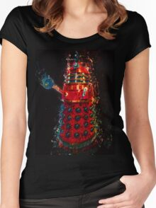 Dalek Fractal Flame, digital painting Women's Fitted Scoop T-Shirt
