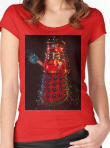 Dalek Fractal Flame, digital painting Women's Fitted Scoop T-Shirt