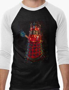 Dalek Fractal Flame, digital painting Men's Baseball ¾ T-Shirt