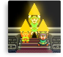 Link Evolution with Triforce Metal Print