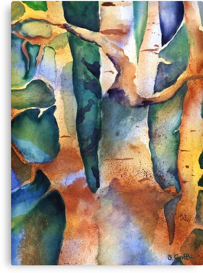 Birch Trees by Sally Griffin