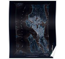 USGS Topo Map Washington State WA Seattle 243638 1908 62500 Inverted Poster