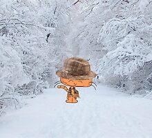 Cat Enjoying The Crisp Winter Air by JohnsCatzz
