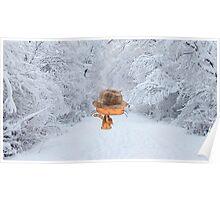 Cat Enjoying The Crisp Winter Air Poster