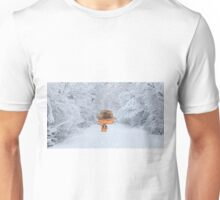 Cat Enjoying The Crisp Winter Air Unisex T-Shirt