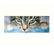 Cat Eyes - Acrylic on Stone Art Print