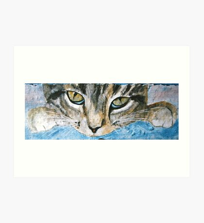 Cat Eyes - Acrylic on Stone Art Print