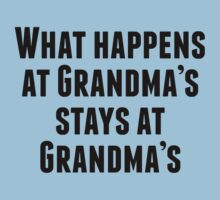 What Happens At Grandma's Baby Tee