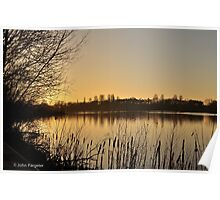 Late afternoon at Harrold Country Park Poster