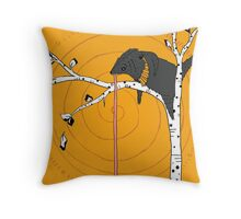 Bear in Tree by Amanda Jones Throw Pillow