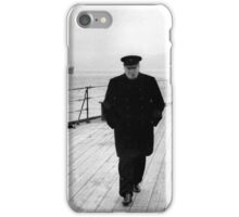 Winston Churchill At Sea iPhone Case/Skin