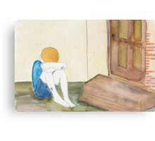He waited and waited outside their door but they never came to help Canvas Print